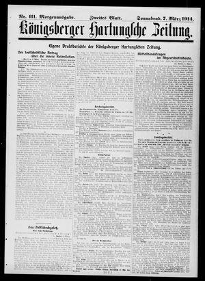 Königsberger Hartungsche Zeitung vom 07.03.1914