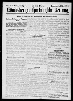 Königsberger Hartungsche Zeitung vom 08.03.1914