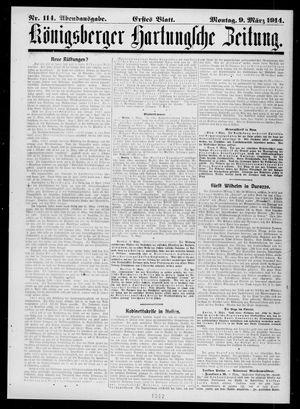 Königsberger Hartungsche Zeitung vom 09.03.1914