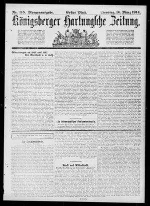 Königsberger Hartungsche Zeitung vom 10.03.1914