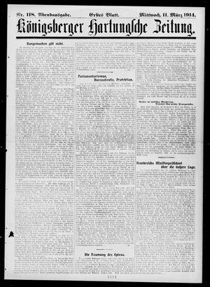 Königsberger Hartungsche Zeitung vom 11.03.1914