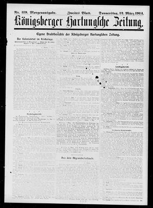Königsberger Hartungsche Zeitung vom 12.03.1914