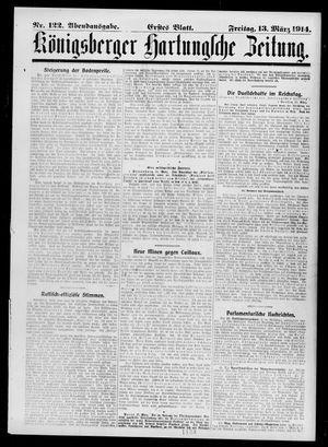 Königsberger Hartungsche Zeitung on Mar 13, 1914