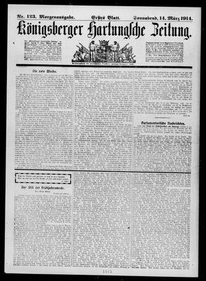 Königsberger Hartungsche Zeitung vom 14.03.1914