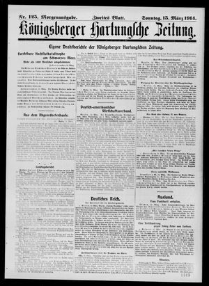 Königsberger Hartungsche Zeitung vom 15.03.1914