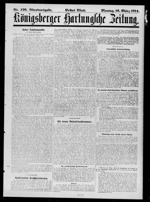Königsberger Hartungsche Zeitung vom 16.03.1914