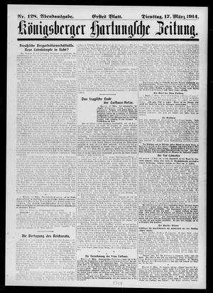 Königsberger Hartungsche Zeitung vom 17.03.1914