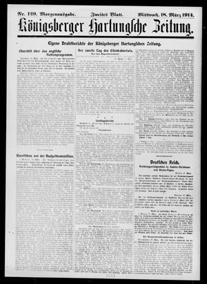 Königsberger Hartungsche Zeitung vom 18.03.1914