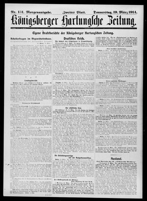 Königsberger Hartungsche Zeitung vom 19.03.1914