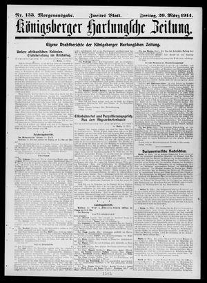 Königsberger Hartungsche Zeitung vom 20.03.1914