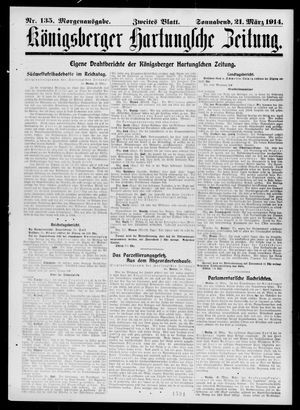 Königsberger Hartungsche Zeitung on Mar 21, 1914