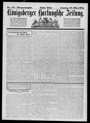 Königsberger Hartungsche Zeitung vom 22.03.1914