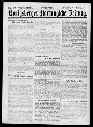 Königsberger Hartungsche Zeitung vom 23.03.1914