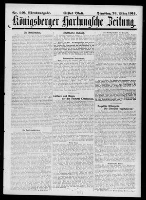 Königsberger Hartungsche Zeitung vom 24.03.1914
