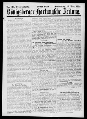 Königsberger Hartungsche Zeitung vom 26.03.1914