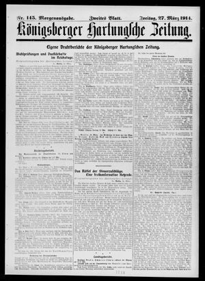 Königsberger Hartungsche Zeitung vom 27.03.1914