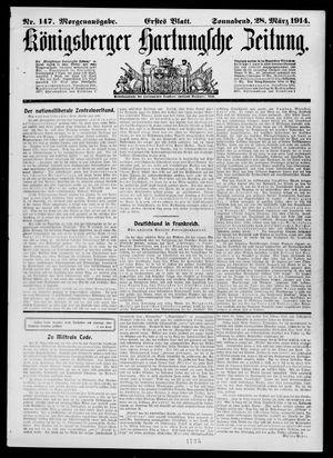 Königsberger Hartungsche Zeitung on Mar 28, 1914