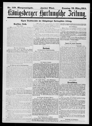 Königsberger Hartungsche Zeitung vom 29.03.1914