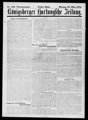 Königsberger Hartungsche Zeitung on Mar 30, 1914