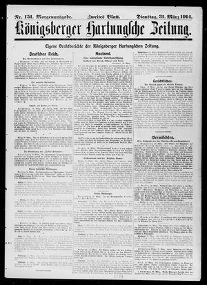 Königsberger Hartungsche Zeitung vom 31.03.1914