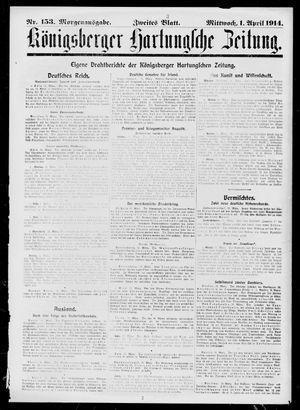 Königsberger Hartungsche Zeitung vom 01.04.1914