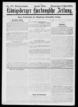 Königsberger Hartungsche Zeitung vom 02.04.1914