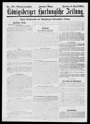 Königsberger Hartungsche Zeitung vom 03.04.1914