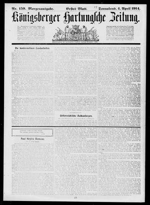 Königsberger Hartungsche Zeitung vom 04.04.1914