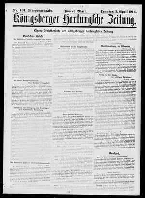 Königsberger Hartungsche Zeitung vom 05.04.1914