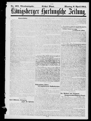 Königsberger Hartungsche Zeitung vom 06.04.1914