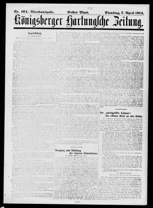 Königsberger Hartungsche Zeitung vom 07.04.1914