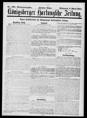 Königsberger Hartungsche Zeitung vom 08.04.1914