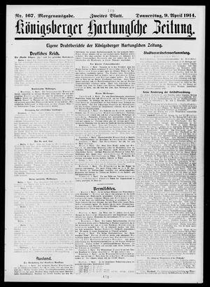 Königsberger Hartungsche Zeitung vom 09.04.1914
