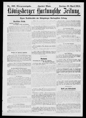 Königsberger Hartungsche Zeitung vom 10.04.1914