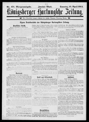 Königsberger Hartungsche Zeitung vom 12.04.1914