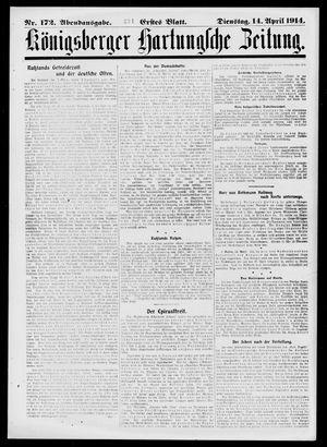 Königsberger Hartungsche Zeitung vom 14.04.1914