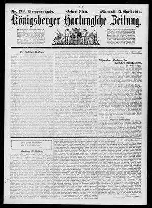 Königsberger Hartungsche Zeitung vom 15.04.1914