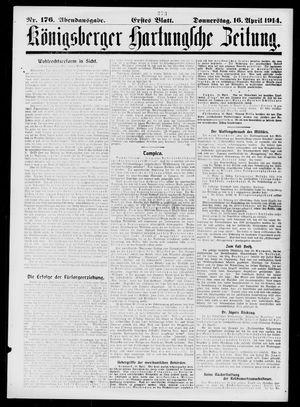 Königsberger Hartungsche Zeitung vom 16.04.1914