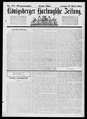 Königsberger Hartungsche Zeitung vom 17.04.1914