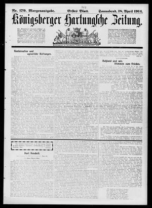 Königsberger Hartungsche Zeitung vom 18.04.1914