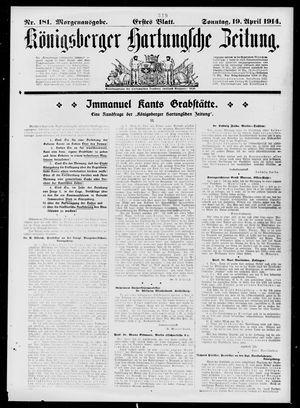 Königsberger Hartungsche Zeitung vom 19.04.1914