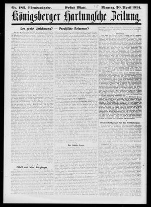 Königsberger Hartungsche Zeitung vom 20.04.1914