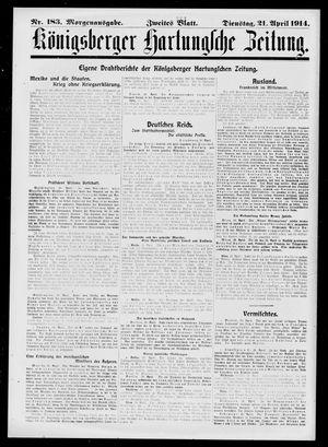 Königsberger Hartungsche Zeitung vom 21.04.1914