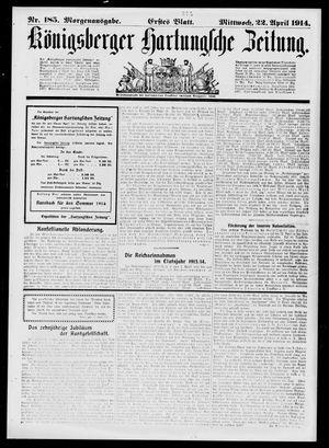 Königsberger Hartungsche Zeitung vom 22.04.1914
