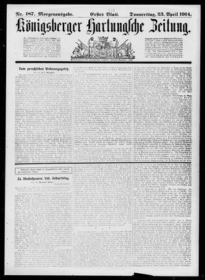 Königsberger Hartungsche Zeitung vom 23.04.1914