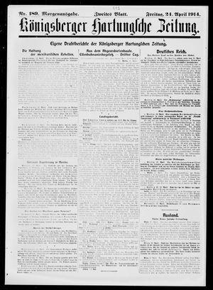 Königsberger Hartungsche Zeitung on Apr 24, 1914