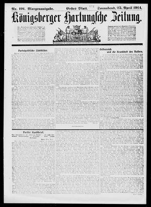Königsberger Hartungsche Zeitung vom 25.04.1914