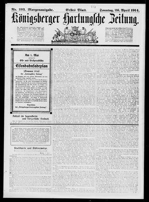 Königsberger Hartungsche Zeitung vom 26.04.1914