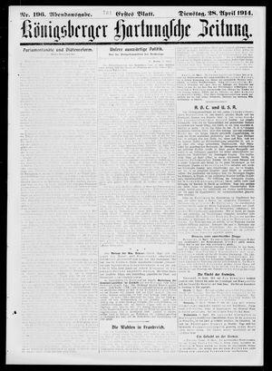 Königsberger Hartungsche Zeitung vom 28.04.1914