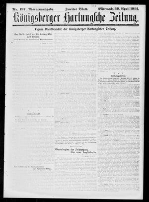Königsberger Hartungsche Zeitung vom 29.04.1914